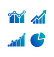 simple set diagram and graphs business related vector image vector image