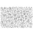 sketchy hand drawn doodle equipment vector image vector image