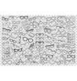 spectacles doodle set vector image vector image