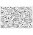 spectacles doodle set vector image