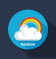 state of the rainbow weather vector image