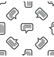 Text message pattern vector image vector image