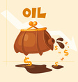 The image of the barrel of oil vector image