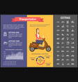 transportation infographic template and elements vector image