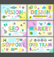 Vision design market seo support and our team card