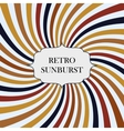 with retro sunburst background vector image vector image