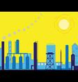 industrial factory landscape vector image