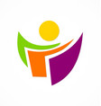 abstract people data logo vector image