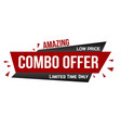 amazing combo offer banner design vector image vector image