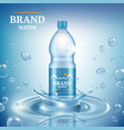 aqua advertizing natural mineral liquid water vector image vector image