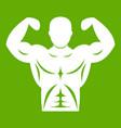 athletic man torso icon green vector image vector image