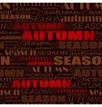 autumn background seamless pattern with words vector image