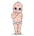 baby in a diaper vector image