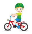 Bicycle Boys Using Helmet vector image vector image