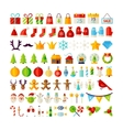 Big Set Merry Christmas Objects vector image