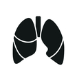 Black simple Medical Lungs icon isolated vector image