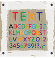 Board for text and images Font Alphabet vector image