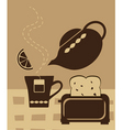 breakfast tea vector image vector image