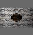 brick texture seamless grey wall background vector image