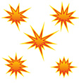 Bursting star vector image vector image