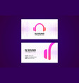 business card template for dj and music business vector image vector image