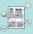 Business CV resume skills vector image