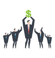 business winner receiving profit businessman vector image