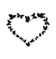 butterfly heart2 vector image vector image