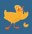 cartoon style duck vector image vector image