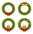 collection holly wreath vector image vector image