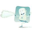 comic superhero - iceman vector image