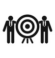 company target icon simple style vector image vector image