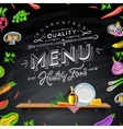 Design elements menu chalkboard vector image vector image