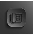 Fax machine icon - black app button vector image vector image