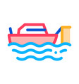 fishing ship icon outline vector image