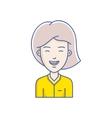 girl avatar vector image vector image