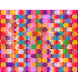 Glossy Colorful Decorative Geometric Pattern vector image vector image