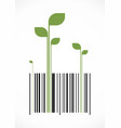 green bar code vector image