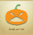 halloween card with scary pumpkin vector image