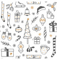 hand drawn christmas seamless background vector image vector image