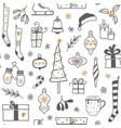 Hand drawn christmas seamless background