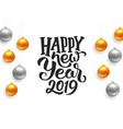 happy new year 2019 typography on card vector image vector image