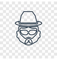 hipster concept linear icon isolated on vector image