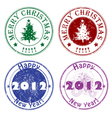 holiday stamps vector image