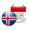 Icon of national day in iceland vector image vector image