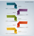 info graphic with color labels from folded paper vector image vector image
