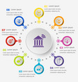 infographic template with online banking icons vector image vector image