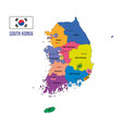 korea map vector image vector image
