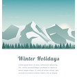 landscape with mountain peaks winter sport vector image vector image