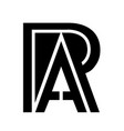 letter r and a intersection overlap simple style vector image